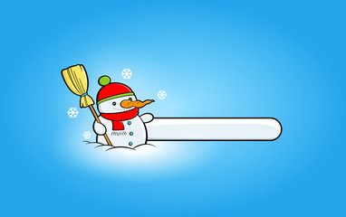 Winter banners with snowmen clipart