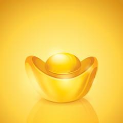 Ingot. Chinese gold.