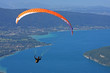 paraglider over Annecy lake - 75414332