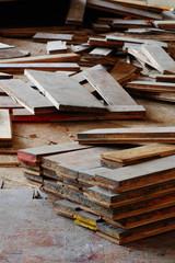 wooden parquet floor  detail