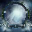 Magiczny portal ze świecami na wodzie - 75415550
