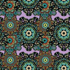 Seamless tribal mandala background