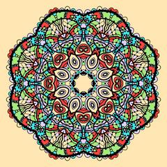 Mandala vector.Stylized indian tribal flower like chakra yantra