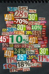PERCENTAGES background paper cut numbers