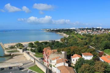 La Rochelle vue d'en haut, France