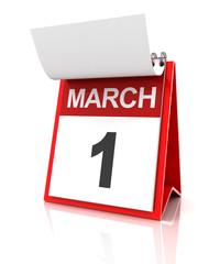 First of March calendar