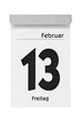 Kalenderblatt Freitag 13. Februar - 75418335