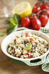 Quinoa, tomatoes and mint salad