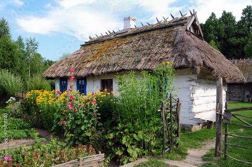 Fototapeta Tradycyjna osada wiejska na podlasiu