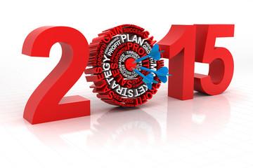 2015 business target, 3d render