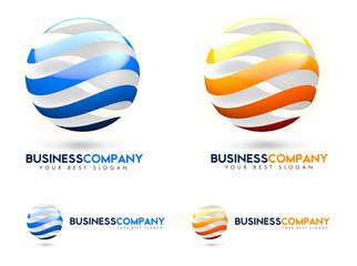 3D Business Sphere Logo