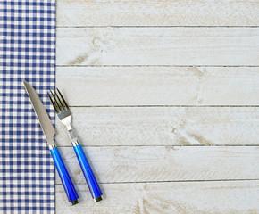 Guten Appetit - Messer und Gabel blau