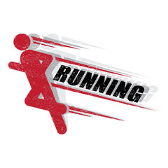 Stamp of running sign vector