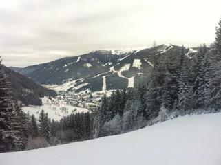 View To Bad Kleinkirchheim In Winter