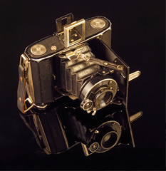 Antique Old Camera on medium format film