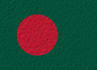 Bangladesh flag stone