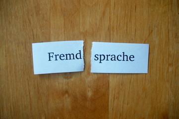 Fremd-sprache