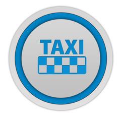Taxi circular icon on white background