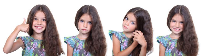 Little girls, collage