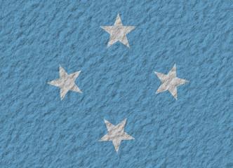 F.S. Micronesia flag stone