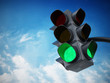 Leinwanddruck Bild - Green traffic light