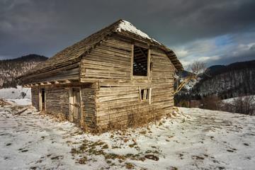 Barn in the winter