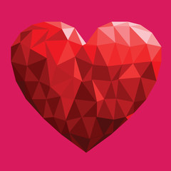 polygon heart illustration