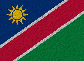 Namibia flag stone