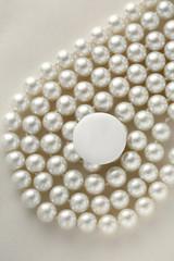 White blank round badge