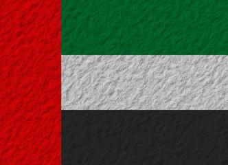 United Arab Emirates flag stone