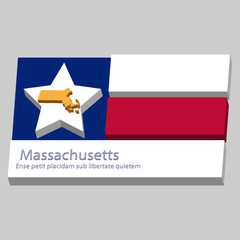 the outline of the state of Massachusetts