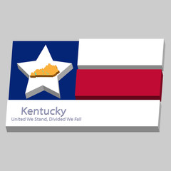 the outline of the state of Kentucky