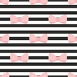 Tile vector pattern pink bows black and white strip background