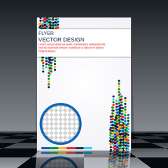 Abstract flyer vector template