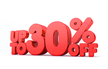 Up to 30% Off 3D Render Red Word Isolated in White Background5