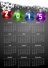vector calendar 2015 monday first