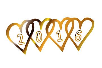 2016 - goldene Herzen...