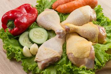 Perniles de pollo