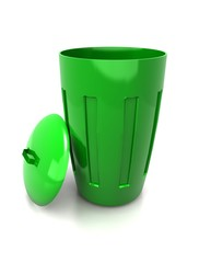Green trash can icon