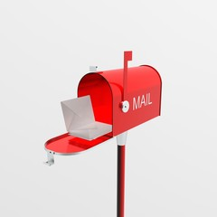 Mailbox with mail