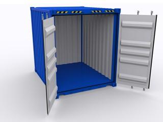 Lager Container geöffnet