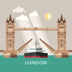 London (England) city vector background.