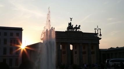 Brandenburger gate at sunset