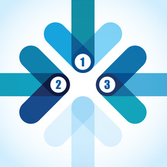 number blue arrow background