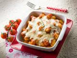 sorrentina gnocchi with mozzarella and tomato