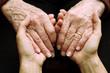 Leinwanddruck Bild - Sostegno e aiuto a persone anziane