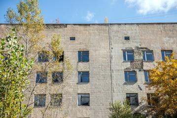 No. 126 hospital in Pripyat, Chernobyl Zone, Ukraine