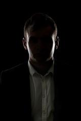 Mystery businessman silhouette