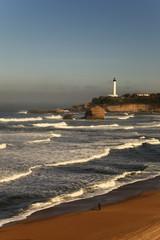 Ballade sur une plage de Biarritz
