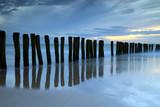 Crépuscule sur la plage de Calais